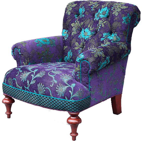 Purple and blue chair